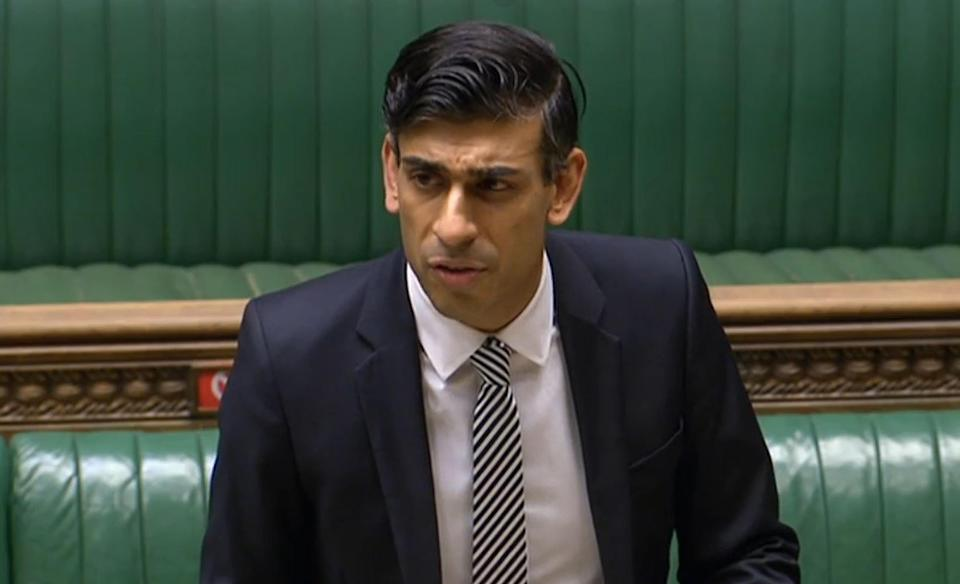 Chancellor of the Exchequer Rishi Sunak giving a statement on the economy in the House of Commons, London.