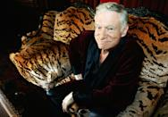"""<p>The man behind <em>Playboy </em><a rel=""""nofollow"""" href=""""https://www.yahoo.com/entertainment/hugh-hefner-founder-playboy-dead-031914304.html"""" data-ylk=""""slk:died Sept. 27;outcm:mb_qualified_link;_E:mb_qualified_link;ct:story;"""" class=""""link rapid-noclick-resp yahoo-link"""">died Sept. 27</a> at the age of 91. His rep said Hefner was surrounded by loved ones and passed away peacefully in the Playboy Mansion, which was sold for $100 million in August 2016 with the stipulation that Hefner be allowed to remain there until his death. Hefner was <a rel=""""nofollow noopener"""" href=""""http://www.tmz.com/2017/09/30/hugh-hefner-private-funeral-ceremony-children-wife/"""" target=""""_blank"""" data-ylk=""""slk:laid to rest"""" class=""""link rapid-noclick-resp"""">laid to rest</a> at L.A.'s Westwood Village Memorial Park cemetery <span>— </span>in a position next to Marilyn Monroe, who appeared on the first cover of <em>Playboy</em> in 1953. (Photo: Getty Images) </p>"""