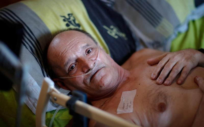 Alain Cocq, 57 a Frenchman suffering from an incurable degenerative disease - GONZALO FUENTES/Reuters