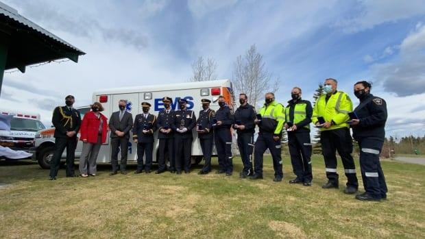 Ten paramedics and medical staff were recognized with The Governor General of Canada's Emergency Medical Services (EMS) Exemplary Service Medal in Whitehorse, Yukon on Friday, May 28, 2021.