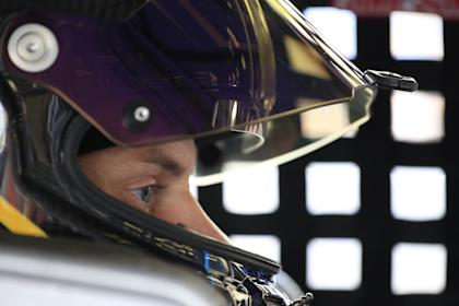 LOUDON, NEW HAMPSHIRE - JULY 19: Joey Gase, driver of the #35 Donate Life/Pro Master Toyota, stands in the garage during practice for NASCAR Xfinity Series ROXOR 200 at New Hampshire Motor Speedway on July 19, 2019 in Loudon, New Hampshire. (Photo by Chris Trotman/Getty Images) | Getty Images