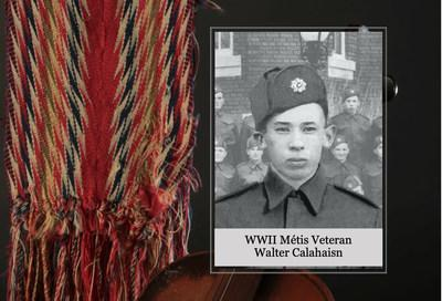 Métis Nation Second World War Hero's spouse to receive Recognition Payment in Edmonton, Alberta (CNW Group/Métis National Council)