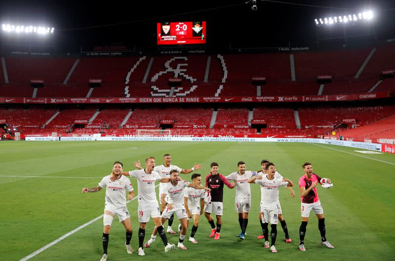 Ocampos shines as Sevilla beat Betis in La Liga return