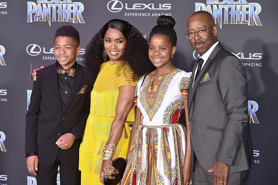 """Angela Bassett and her family attend the Hollywood premiere of """"Black Panther"""" on Jan. 29, 2018. (Photo: David Crotty via Getty Images)"""