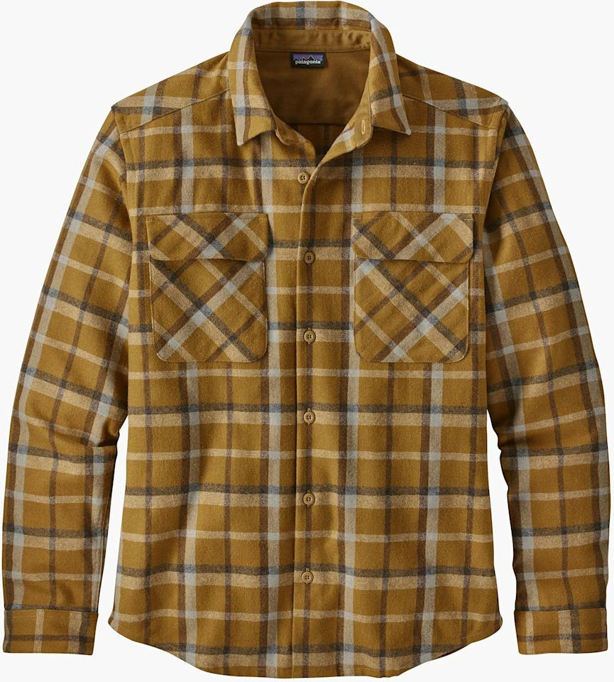 "<p><strong>Patagonia</strong></p><p>rei.com</p><p><a href=""https://go.redirectingat.com?id=74968X1596630&url=https%3A%2F%2Fwww.rei.com%2Frei-garage%2Fproduct%2F158487%2Fpatagonia-recycled-wool-shirt-mens&sref=http%3A%2F%2Fwww.popularmechanics.com%2Fadventure%2Foutdoor-gear%2Fg29430531%2Frei-outlet-patagonia-sale%2F"" target=""_blank"">BUY IT HERE</a></p><p><del>$129.00</del><strong><br>$96.73</strong></p><p>This flannel shirt will transition nicely from office hours to hiking or working outdoors.</p>"