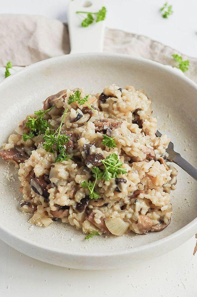 """<p>We fry our onions and mushrooms in batches to make sure you get some delicious colour on the mushrooms. Although it might seem tempting to chuck it all in the pan at the same time, you won't get the same level of buttery toastiness if you do!</p><p>Get the <a href=""""https://www.delish.com/uk/cooking/a34795291/slow-cooker-mushroom-risotto/"""" rel=""""nofollow noopener"""" target=""""_blank"""" data-ylk=""""slk:Slow Cooker Mushroom Risotto"""" class=""""link rapid-noclick-resp"""">Slow Cooker Mushroom Risotto</a> recipe.</p>"""