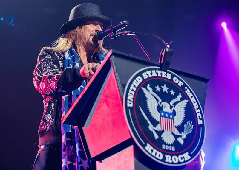 Kid Rock performs the very first show at the new Little Caesars Arena on Tuesday.