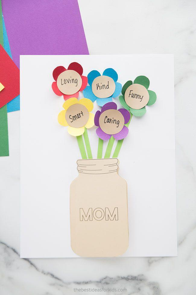 """<p>Crafty moms will love this Mason jar vase card, filled with flowers that celebrate her best qualities. </p><p><strong>Get the tutorial at <a href=""""https://www.thebestideasforkids.com/mothers-day-flower-card/"""" rel=""""nofollow noopener"""" target=""""_blank"""" data-ylk=""""slk:The Best Ideas for Kids"""" class=""""link rapid-noclick-resp"""">The Best Ideas for Kids</a>. </strong></p><p><a class=""""link rapid-noclick-resp"""" href=""""https://www.amazon.com/Neenah-Creative-Collection-Specialty-Cardstock/dp/B003A2I4V2?tag=syn-yahoo-20&ascsubtag=%5Bartid%7C2164.g.35668391%5Bsrc%7Cyahoo-us"""" rel=""""nofollow noopener"""" target=""""_blank"""" data-ylk=""""slk:SHOP CRAFT PAPER"""">SHOP CRAFT PAPER </a></p>"""