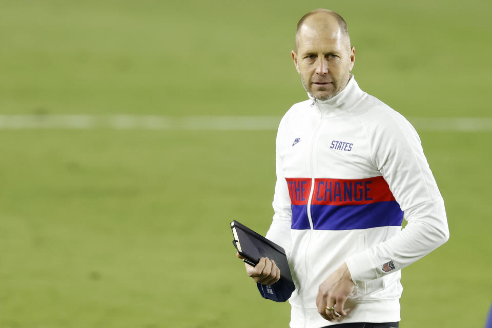 "Gregg Berhalter called last week's President Trump-incited Capitol riots a ""low point"" for the country. (Photo by Michael Reaves/Getty Images)"