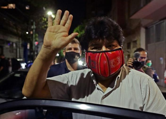 Evo Morales was barred from taking part in the election