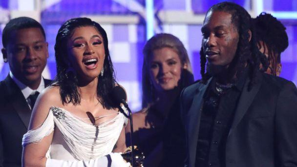 PHOTO: Cardi B accepts the award for best rap album for 'Invasion of Privacy' at the 61st annual Grammy Awards, Feb. 10, 2019, in Los Angeles. (Matt Sayles/Invision/AP)