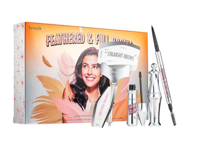 "Get this <a href=""https://fave.co/3nDVdnk"" target=""_blank"" rel=""noopener noreferrer"">Benefit Feathered Brow Kit on sale for $20 (normally $34)</a> at Sephora."