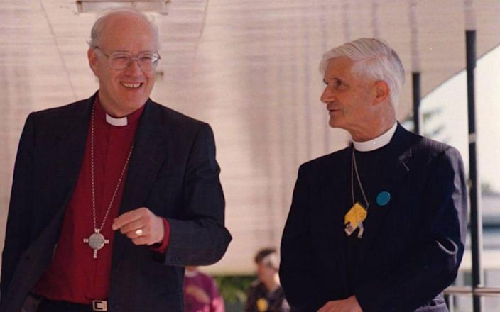 Alec Graham, Bishop of Newcastle, with the Archbishop of Canterbury George Carey in 1996 - Brian Smith