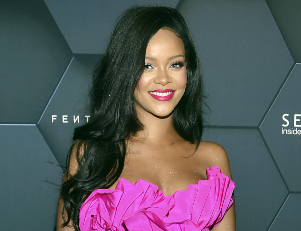 Singer Rihanna reportedly turned down this season's Super Bowl halftime show. (AP)