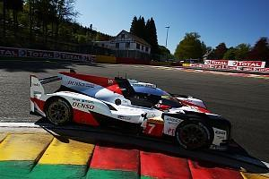 Mike Conway and Kamui Kobayashi took pole position for the World Endurance Championship superseason opener at Spa ahead of Toyota team-mates Fernando Alonso and Kazuki Nakajima