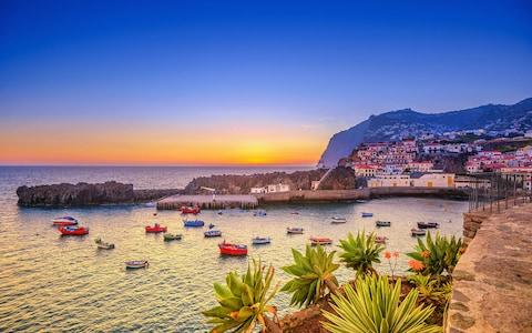 Camara de Lobos waterfront at sunset - Credit: iStock