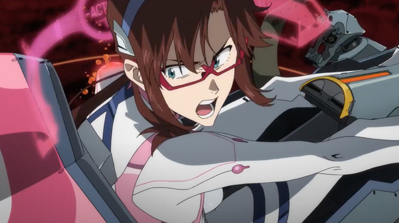 Mari doing her thing in Evangelion: 3.0+1.0 Thrice Upon a Time.