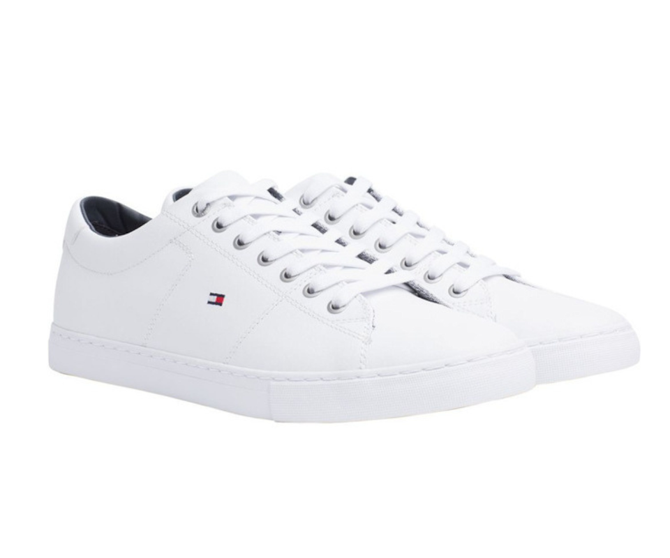 Tommy Hilfiger Essential Leather Trainers. Photo: Myer