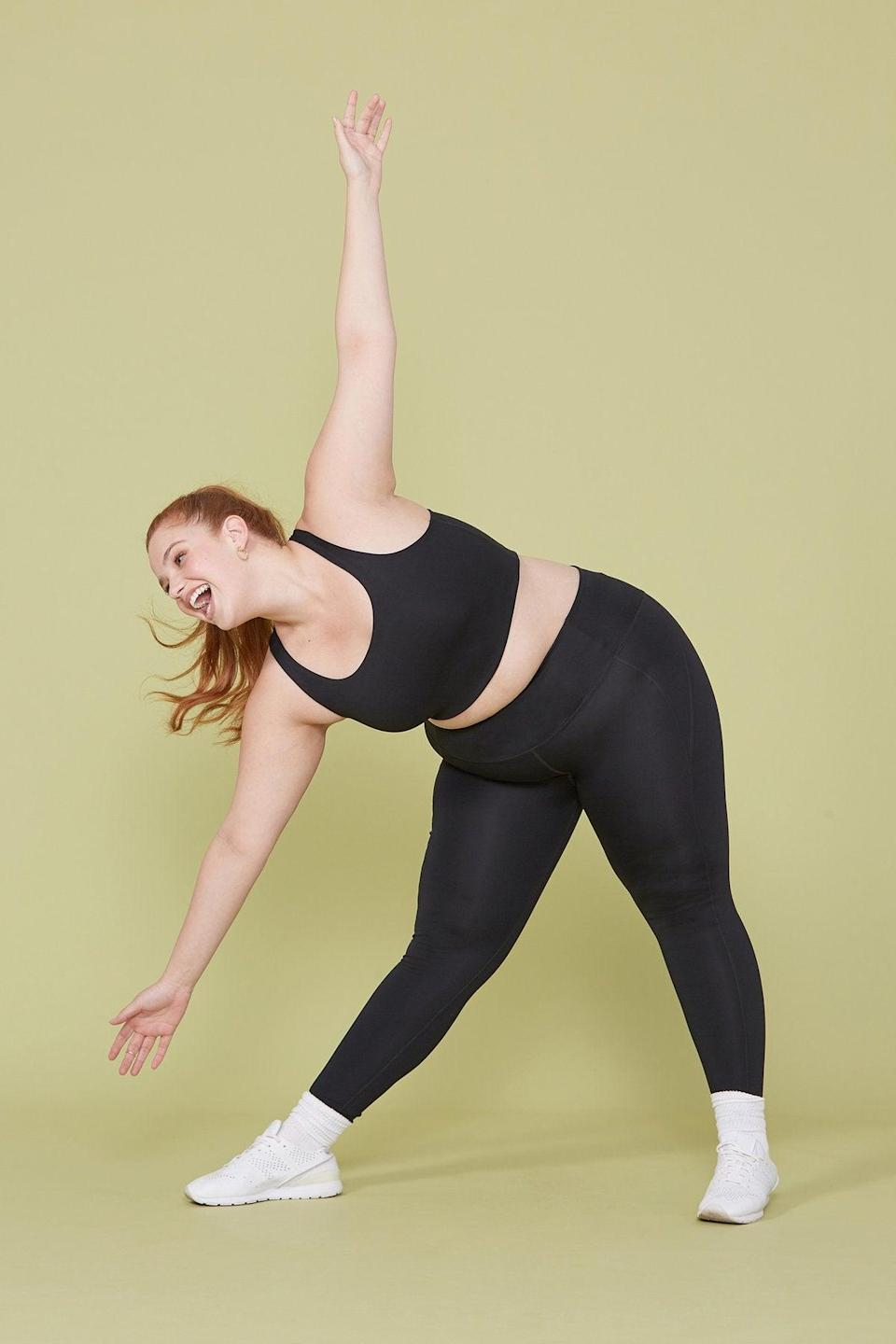 """<strong><h3>Girlfriend Collective: The """"So Good It Launched An Entire Brand"""" Legging</h3></strong><br>Girlfriend Collective may have only launched in 2017, but thanks to these comfortable leggings made from <a href=""""https://www.refinery29.com/en-us/girlfriend-collective-leggings-lite-review"""" rel=""""nofollow noopener"""" target=""""_blank"""" data-ylk=""""slk:recycled plastic bottles"""" class=""""link rapid-noclick-resp"""">recycled plastic bottles</a>, it's already gained a cult following.<br><br><strong>The hype:</strong> 4.9 out of 5 stars and 11,798 reviews on Girlfriend Collective<br><br><strong>What they're saying:</strong> """"I saw the reviews too. I was skeptical too. I thought """"they're just a pair of leggings, why are people so obsessed?"""" too. But they are. They really are just the best leggings. They have the perfect amount of compression - enough to keep you together but not a battle to get in to. They're the perfect rise. They don't go sheer. They don't pill. They just work so well. I don't even notice I've sweat in these. I love."""" - Madeline G., Girlfriend Collective Review<br><br><strong>Girlfriend Collective</strong> Black Compressive High-rise Legging, $, available at <a href=""""https://go.skimresources.com/?id=30283X879131&url=https%3A%2F%2Fwww.girlfriend.com%2Fcollections%2Fleggings%2Fproducts%2Fblack-compressive-high-rise-legging"""" rel=""""nofollow noopener"""" target=""""_blank"""" data-ylk=""""slk:Girlfriend Collective"""" class=""""link rapid-noclick-resp"""">Girlfriend Collective</a>"""
