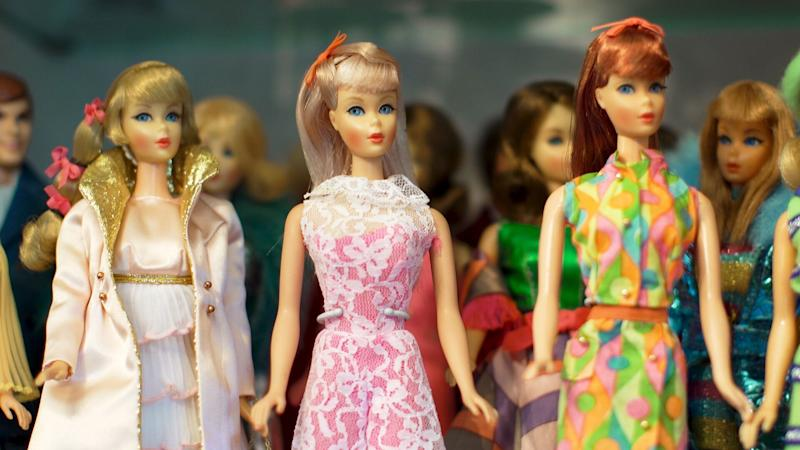 A myriad of Barbie dolls in Carol Spencer's collection.