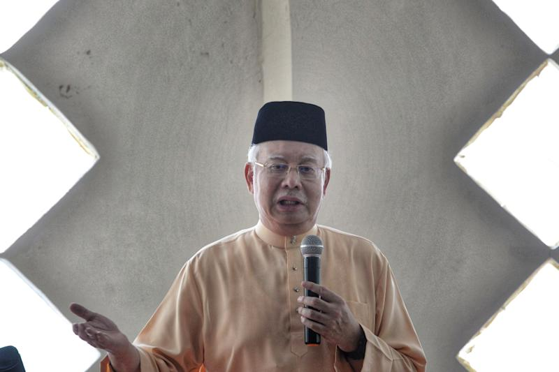 Najib's latest remarks appear to be aimed at Minister in the Prime Minister's Department Datuk Seri Mujahid Yusof Rawa. — Picture by Shafwan Zaidon