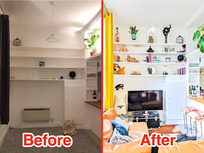 tiny apartment before/after