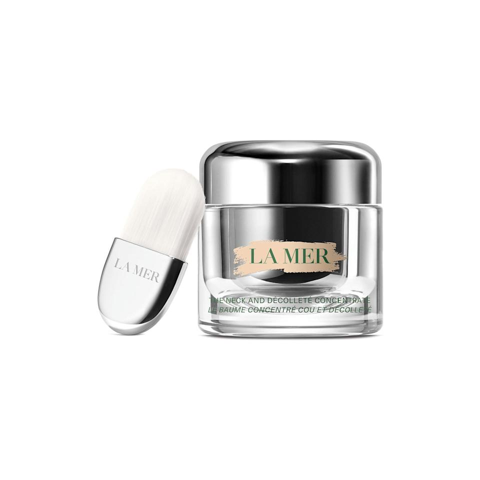 "<p>Now, let's get really luxe. The latest launch from La Mer is a super hydrating balm designed to plump, firm, and lift. This is one that might just be worth a splurge.</p> <p>Buy: $295; <a href=""https://click.linksynergy.com/deeplink?id=93xLBvPhAeE&mid=1237&murl=https%3A%2F%2Fshop.nordstrom.com%2Fs%2Fla-mer-the-neck-decollete-concentrate%2F5348000&u1=SL%2CRX_1908AugustBeautyLaunches_LaMerTheNeckandD%25C3%25A9collet%25C3%25A9Concentrate%2Cpshannon1271%2C%2CIMA%2C633020%2C201908%2CI"" target=""_blank"">nordstrom.com</a></p>"