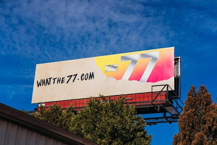 On Thursday, the great mystery behind the 77s in Charlotte was revealed via billboard.