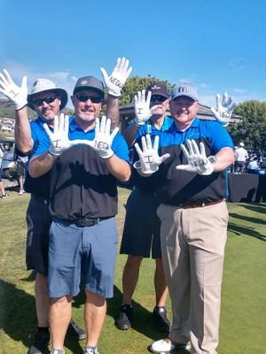 Employees from Smart Circle International spent the day raising money and volunteering at the Jessie Rees Foundation NEGU Golf Classic. Back Row (L to R): Bob Vesley - Chief Financial Officer, Michael Shimada – Executive Financial Advisor. Front Row (L to R): Ron Van Bavel – Vice President of Logistics, Stephen Oates - National Retail Compliance Manager.