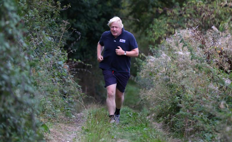 Britain's former Foreign Secretary Boris Johnson jogs near his home in Oxfordshire, September 11, 2018. REUTERS/Simon Dawson