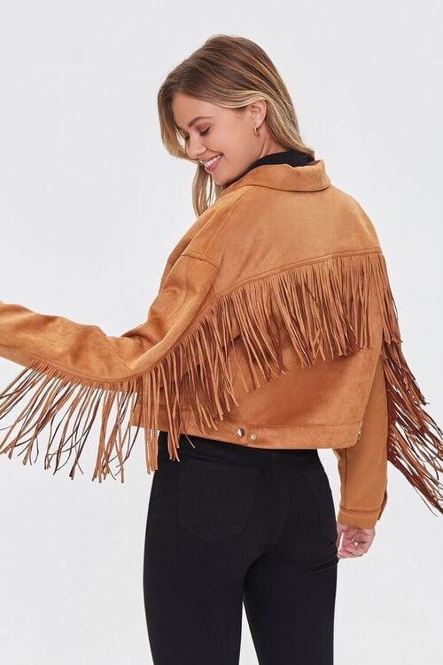 <p>At only $50, this <span>Forever 21 Faux Suede Fringe Jacket</span> ($50) is a great way to try the trend. Be warned, though, you might never take it off.</p>