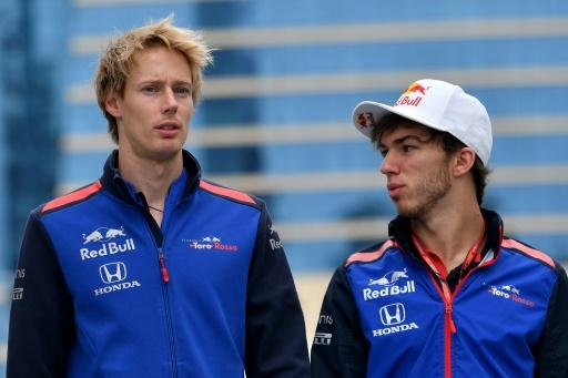 Toro Rosso duo Brendon Hartley and Pierre Gasly walking out to third practice- the calm before the stormMore