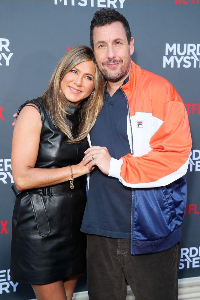 Jennifer Aniston and Adam Sandler | Leon Bennett/Getty