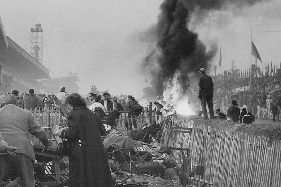 Eighty-four people were killed and more than a 100 injured during the 1955 Le Mans raceAFP/Getty