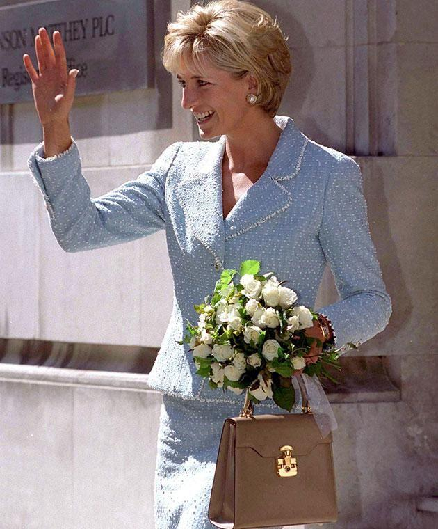 Lana met Princess Diana when she designed a handbag for her (pictured). Photo: Getty