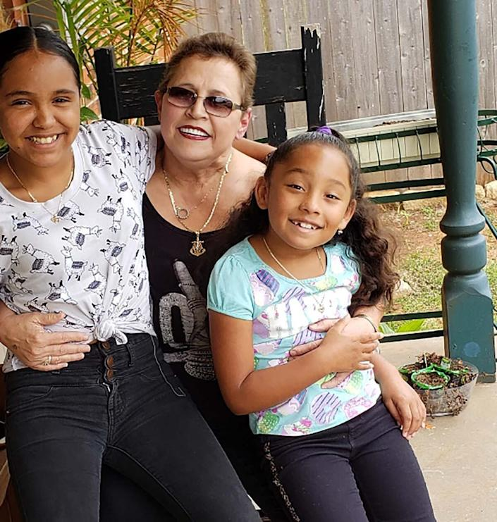 Christine Zuniga is raising her granddaughters Victoria and Alejandra while their parents are incarcerated. When the coronavirus hit, she became the girls' homeschool teacher in addition to their primary caregiver. (Photo: Courtesy Christine Zuniga )