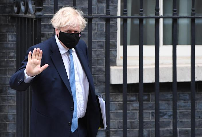 <p>The Prime Minster leaves Downing Street to address Parliament on Wednesday</p> (EPA)