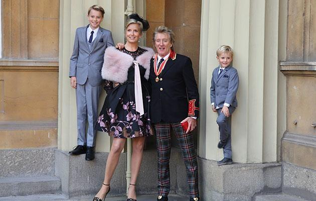 Rod arrived with his wife Penny and their sons Alastair and Aidan. Photo: Getty.
