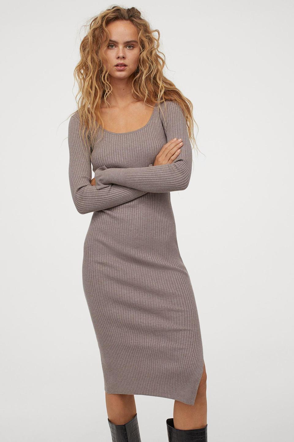 <p>Anyone can appreciate the slouchy yet supportive fit of this <span>Rib-Knit Dress</span> ($30).</p>