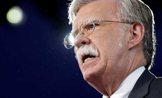 Former U.S. Ambassador to the United Nations John Bolton speaks at the Conservative Political Action Conference in Oxon Hill, Md., in 2017. (Photo: Joshua Roberts/Reuters)