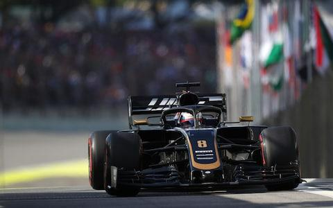 Romain Grosjean of France driving the (8) Haas F1 Team VF-19 Ferrari on track during qualifying for the F1 Grand Prix of Brazil at Autodromo Jose Carlos Pace on November 16, 2019 in Sao Paulo, Brazil. - Credit: Getty Images