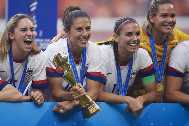 Public pressure is firmly behind the USWNT in the equal pay fight, and that very much matters. (Photo by Quality Sport Images/Getty Images)