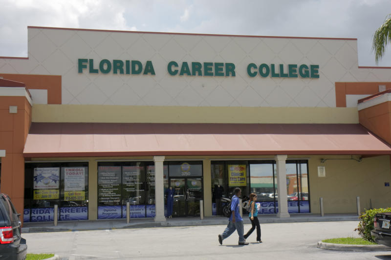 The exterior of Florida Career College. (Photo by: Jeffrey Greenberg/Universal Images Group via Getty Images)