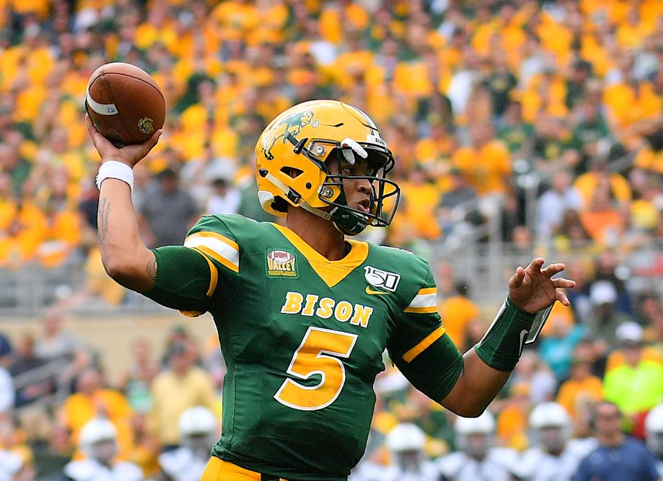 North Dakota State QB Trey Lance has the goods to be special in time. (Photo by Sam Wasson/Getty Images)