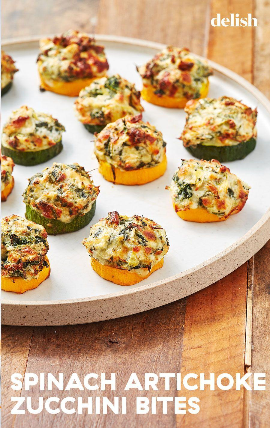 """<p>You can even make them in the air fryer!</p><p>Get the recipe from <a href=""""https://www.delish.com/cooking/recipe-ideas/a22876942/spinach-artichoke-zucchini-bites-recipe/"""" rel=""""nofollow noopener"""" target=""""_blank"""" data-ylk=""""slk:Delish"""" class=""""link rapid-noclick-resp"""">Delish</a>.</p>"""
