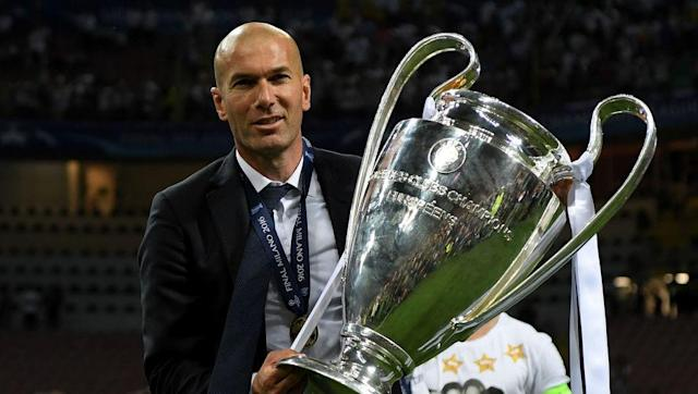 <p><strong>Because Zinédine Zidane</strong></p> <br><p>Appointed as Real Madrid manager only a year ago after Rafael Benitez's shockingly bad term on <em>Los Blancos' </em>bench, Zidane has already proven that he's as good a manager as he was a player. </p> <br><p>On his first six months as Real Madrid manager, the French legend won three international titles: he won la Undecima, the club's 11th Champions League and his personal 2nd (one as a player, one as a manager), the UEFA Supercup and the FIFA Clubs World Cup. </p> <br><p>Currently on top of La Liga with two points on Barcelona and one less game, his hunger for trophies is clearly not satisfied, and he turned this bunch of individual superstars into a group of champions. </p>