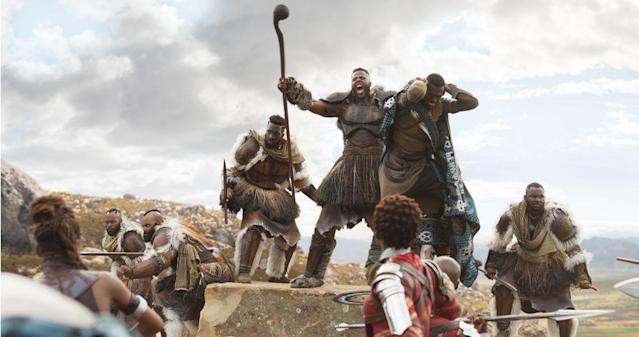 Winston Duke as M'Baku in <em>Black Panther</em>. (Photo: Marvel)