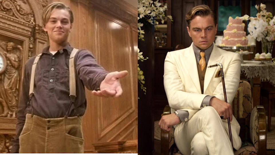 Leonardo DiCaprio may well have been playing the same character in 'Titanic' and 'The Great Gatsby'. (Credit: Paramount/Warner Bros)