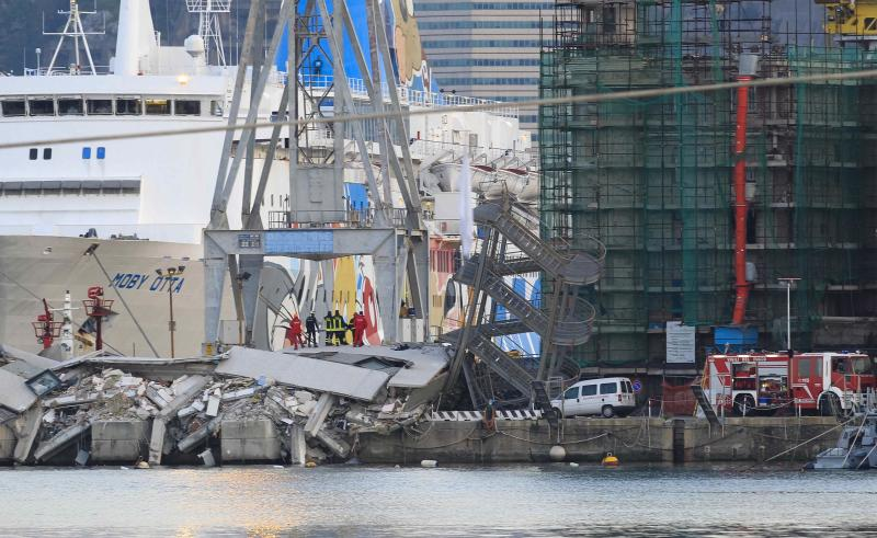 Italy cargo ship slams into Genoa port, kills 5