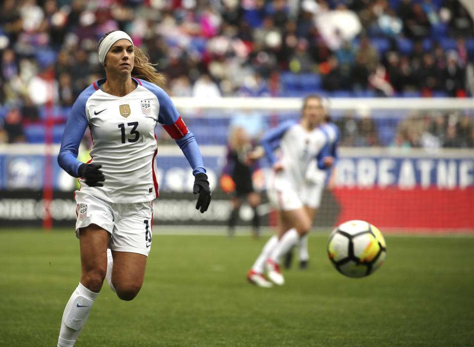 Lots of big names from the USWNT's 2015 World Cup champion have retired. Alex Morgan is not one of them. (AP)